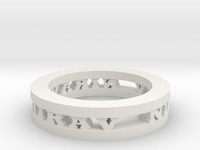 Ring in White Natural Versatile Plastic