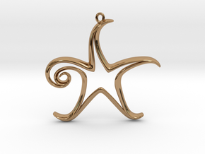 The Star Pendant in Polished Brass