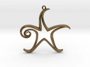The Star Pendant in Polished Bronze