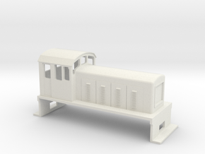 DS Locomotive, New Zealand, (HO Scale, 1:87) in White Natural Versatile Plastic