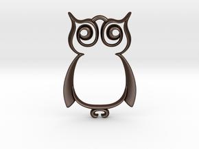The Owl Pendant in Matte Bronze Steel
