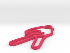 V in Pink Processed Versatile Plastic