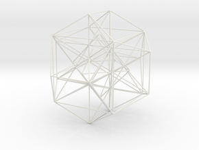 MorphoHedron2-800s25 in White Natural Versatile Plastic