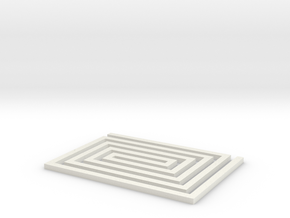 Spiral Rectangle  - 2 inch in White Natural Versatile Plastic