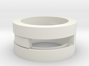 Slider-ring (medium) in White Strong & Flexible