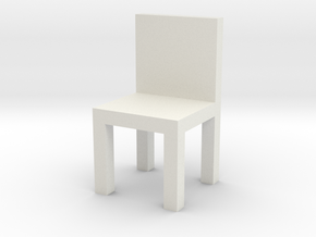 HO Scale Chair in White Natural Versatile Plastic
