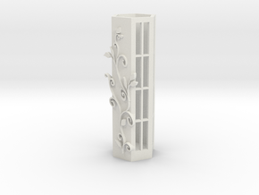 Pen Holder Flower in White Natural Versatile Plastic