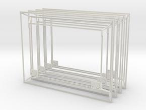 3D Photo Frame 4Pack in White Natural Versatile Plastic