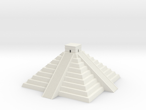 Mayan Pyramid temple in White Natural Versatile Plastic
