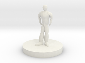 Humanoid Miniature in White Natural Versatile Plastic