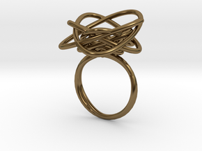 Sprouted Spiral Ring (Size 8) in Polished Bronze