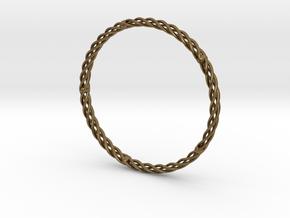 Spiral Bracelet Medium Large in Natural Bronze