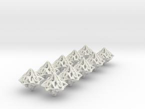 10d10 Pinwheel Set in White Natural Versatile Plastic