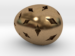 Mosaic Egg #11 in Natural Brass