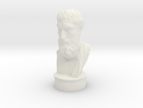 Epicurus - 4 inch tall hollow (limited materials) in White Natural Versatile Plastic