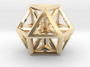 Small Vector Equilibrium in 14K Yellow Gold