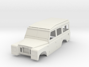 1/10 Scale Series III Land Rover 109 Body in White Natural Versatile Plastic