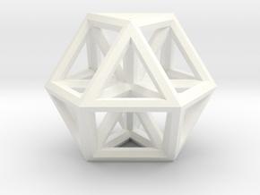 """Small Vector Equilibrium 1"""" in White Processed Versatile Plastic"""