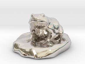 Bull Frog Statue in Platinum