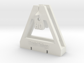 TrackToolz HO Gauge Spacing Tool in White Natural Versatile Plastic
