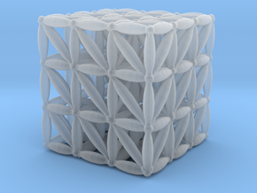 """3-D FLOWER OF LIFE """"META-CUBE"""" in Smooth Fine Detail Plastic"""