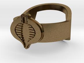 Cobra Ring - GI Joe Bottle Opener band or regular in Natural Bronze