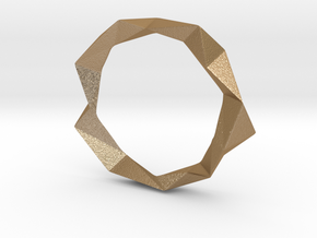 Facets in Matte Gold Steel