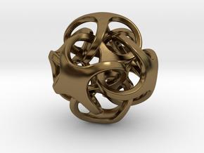 Metatrino Pendant in Polished Bronze