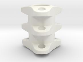 Triple Tritium Bead 2 (2x12mm Vials) in White Natural Versatile Plastic