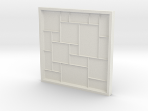 Versailles Pattern Mold in White Natural Versatile Plastic