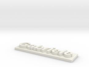 Gabriele's name in White Natural Versatile Plastic