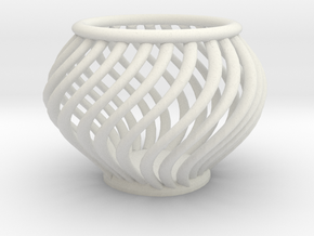 BasketScrewTecnique in White Natural Versatile Plastic