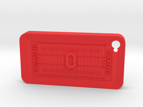 IPhone 4 Football OS in Red Strong & Flexible Polished
