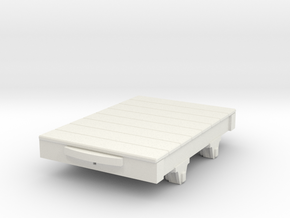 1:35 WDLR trolley flat 2 in White Natural Versatile Plastic