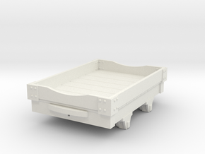 1:35 WDLR trolley 2 with low sides in White Natural Versatile Plastic