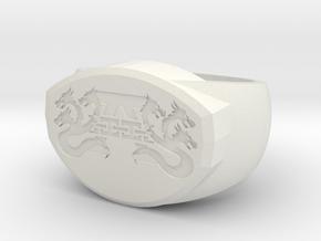 Experiment Ringuntitled2 in White Natural Versatile Plastic