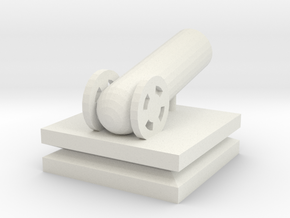 Cannon Small in White Natural Versatile Plastic