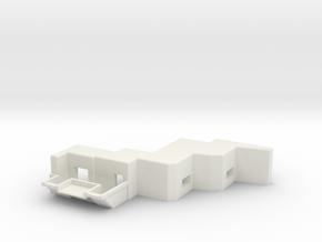 1/144 heavy MG Bunker for Russian Stalin Line in White Natural Versatile Plastic