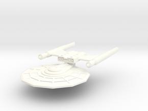 USS Zarek in White Processed Versatile Plastic