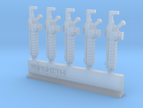 Assault Rifle Type A Sprue in Smooth Fine Detail Plastic