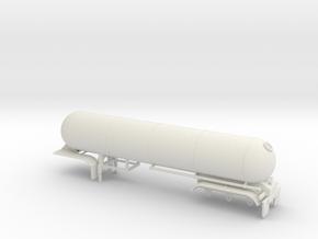 S-scale 1/64 trailer 15, LPG Tri-axle Tanker in White Strong & Flexible