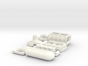 1 8 426 Hemi GMC Blower W FI System in White Processed Versatile Plastic