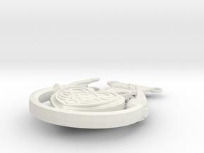 Celtic Heart Charm2 in White Strong & Flexible