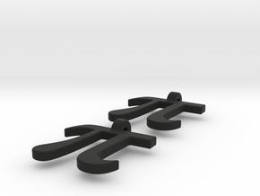 Pi Math Symbol Earrings in Black Natural Versatile Plastic