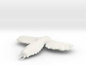 the MothMan in White Natural Versatile Plastic