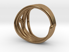 HeliX Kink Ring - 18 mm in Natural Brass