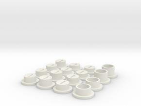 Vite in White Natural Versatile Plastic