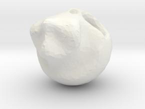 CartoonSkull in White Natural Versatile Plastic