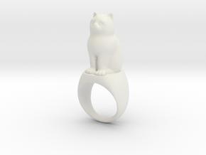 Katzenring Catring in White Natural Versatile Plastic