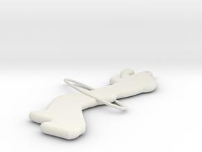 Hoolagirl 3 in White Natural Versatile Plastic